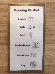 Morning Basket Schedule