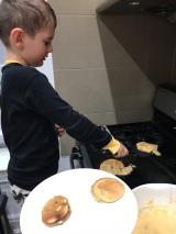Ethan Making Pancakes